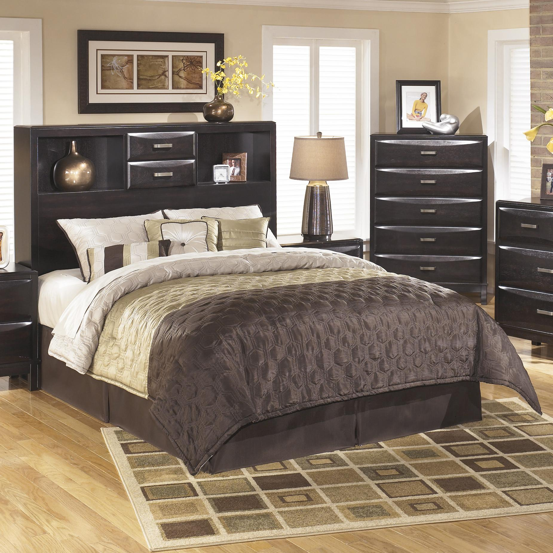 Ashley Furniture Kira B473-65 Queen Storage Headboard ...