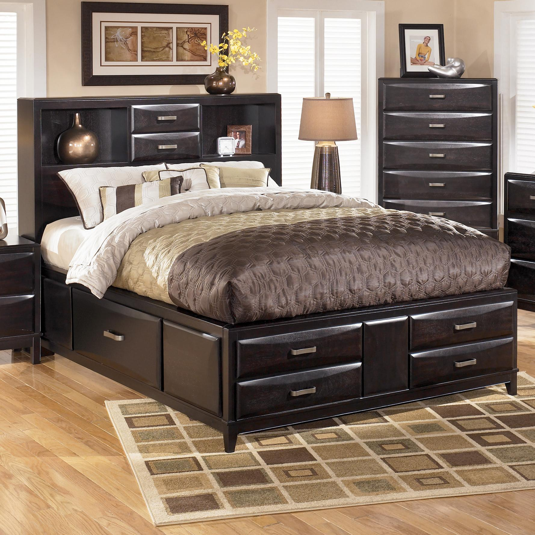 Ashley Furniture Kira King Storage Bed Wayside Furniture - Ashley furniture store bedroom sets