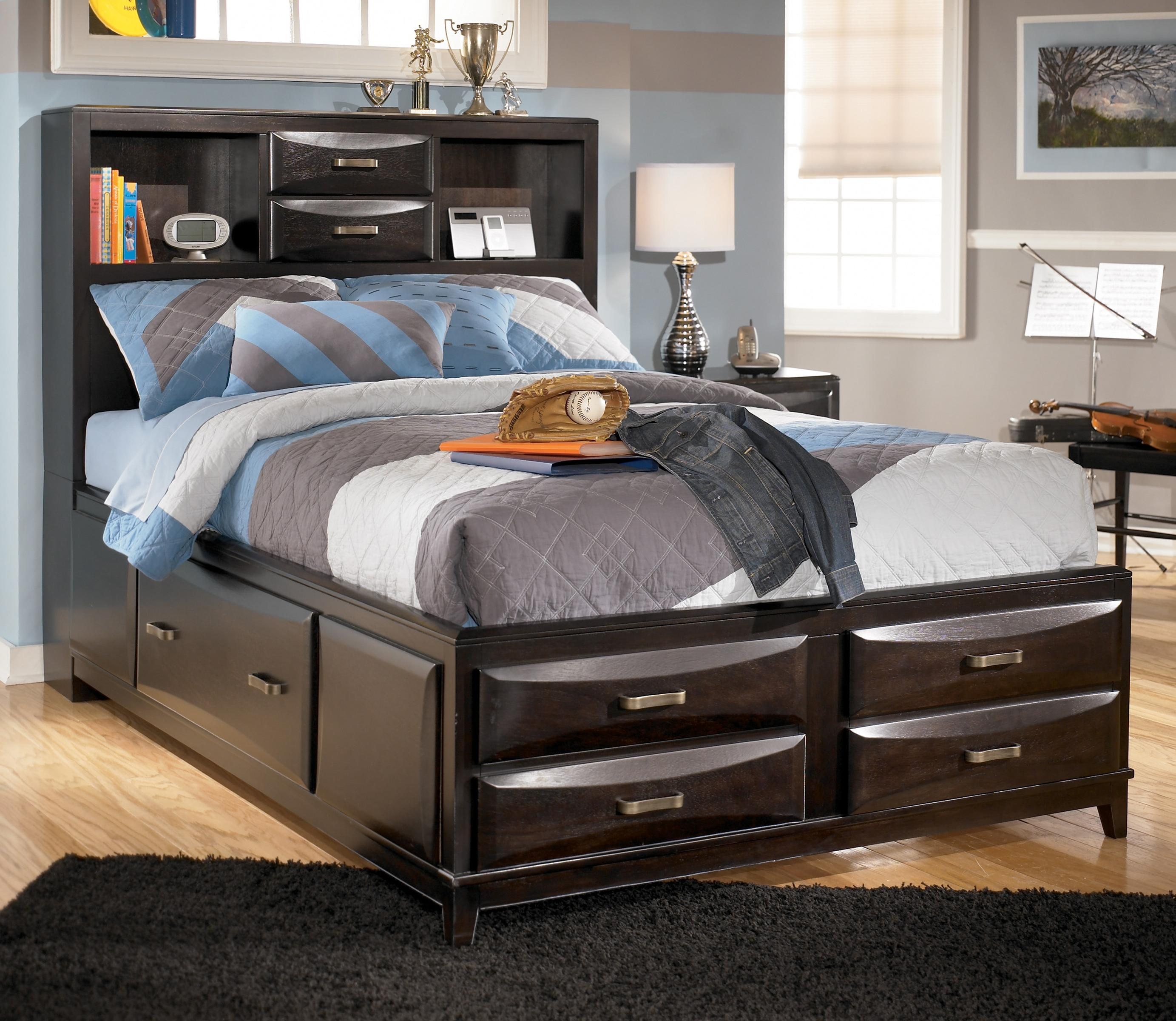 Ashley Furniture Kira Full Storage Bed Ahfa Captain S Bed  # Muebles Wichita Ks