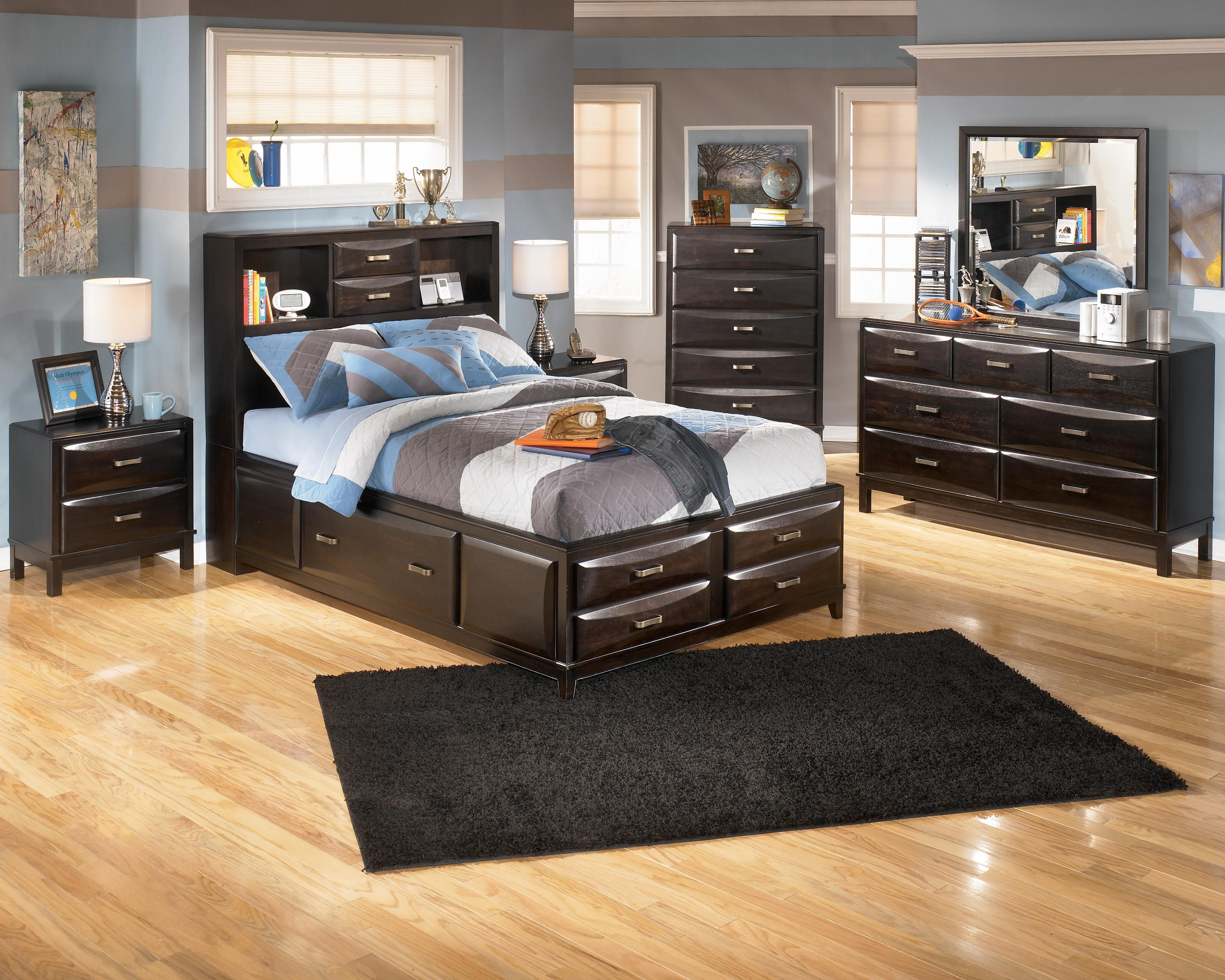Ashley furniture kira full storage bed becker furniture - Ashley furniture full bedroom sets ...