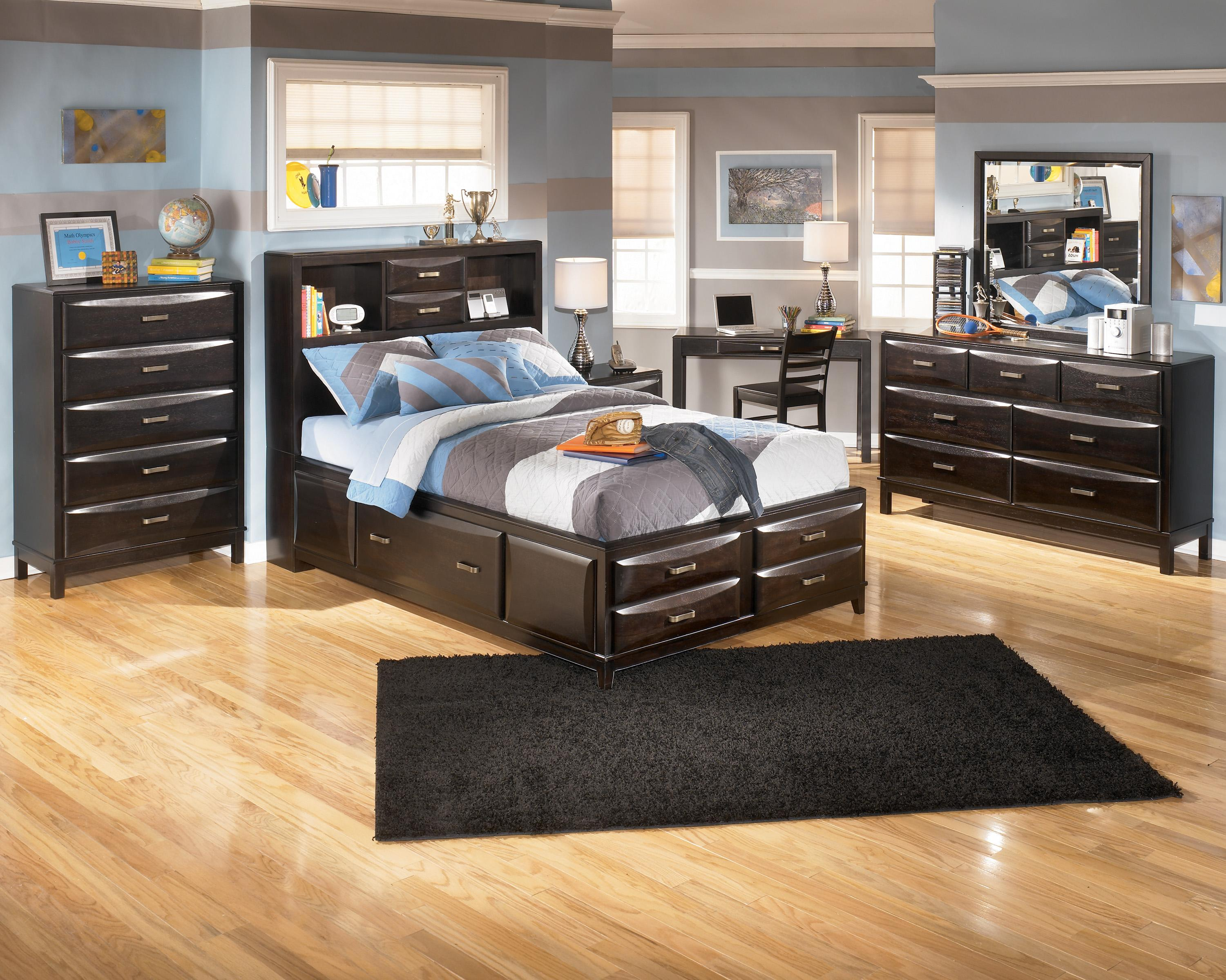 Ashley furniture kira full storage bed ahfa captain 39 s beds - Ashley furniture full bedroom sets ...