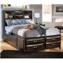 Ashley Furniture Kira Full Storage Bed - Item Number: B473-77+74+88