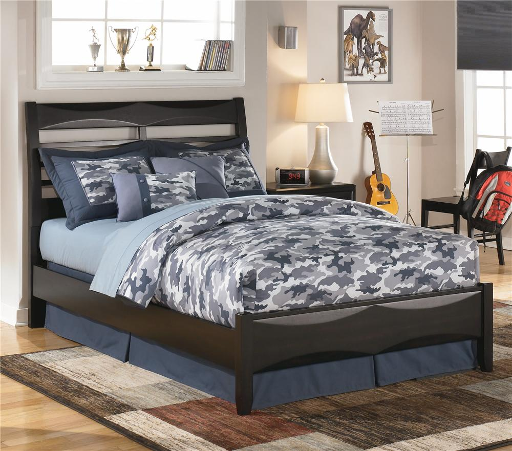 Ashley Furniture Kira Full Panel Bed - Item Number: B473-84+87+86