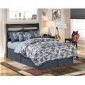 Ashley Furniture Kira Full Panel Headboard - Shown with Nightstand and Chair