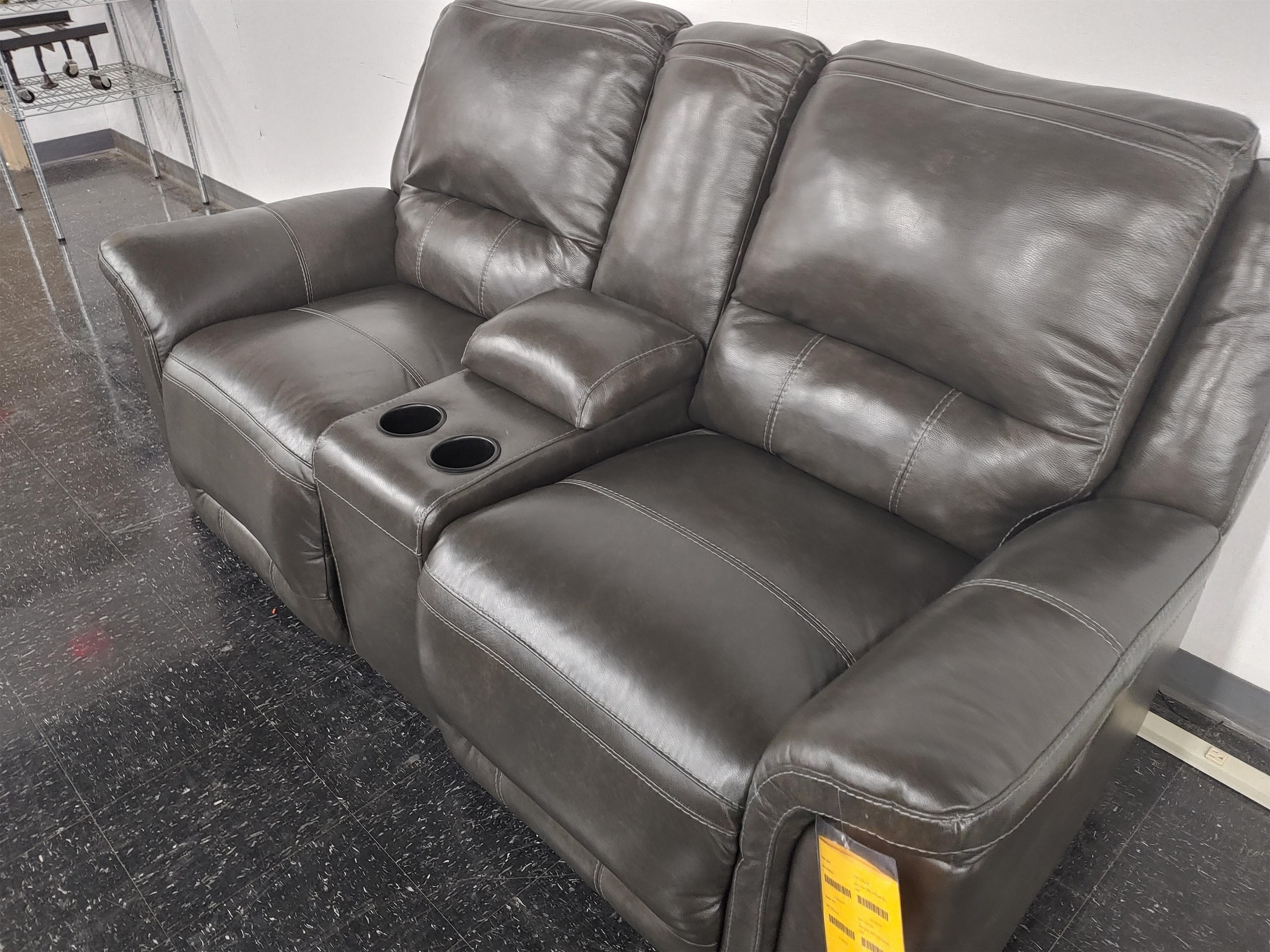 Last One Loveseat Last One! Power Leather Match Loveseat at Morris Home