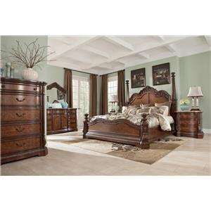 Ashley Furniture Ledelle Queen Poster Bed