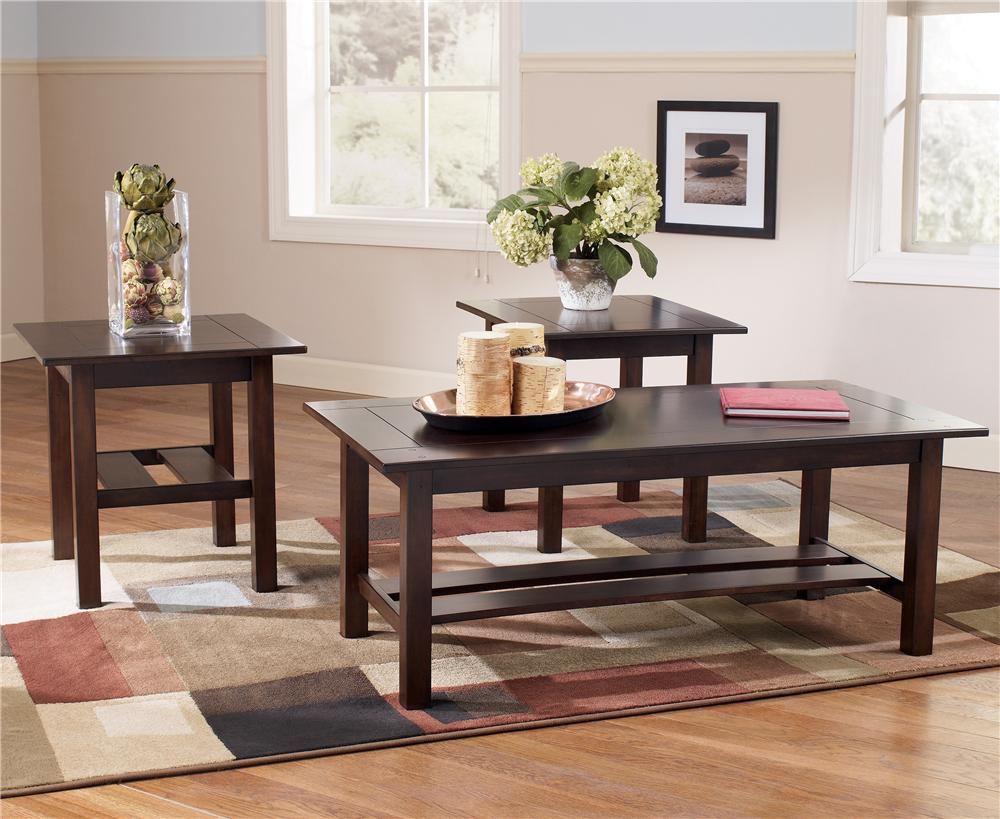 Signature Design by Ashley Lewis 3-in-1 Pack Occasional Tables - Item Number: T309-13