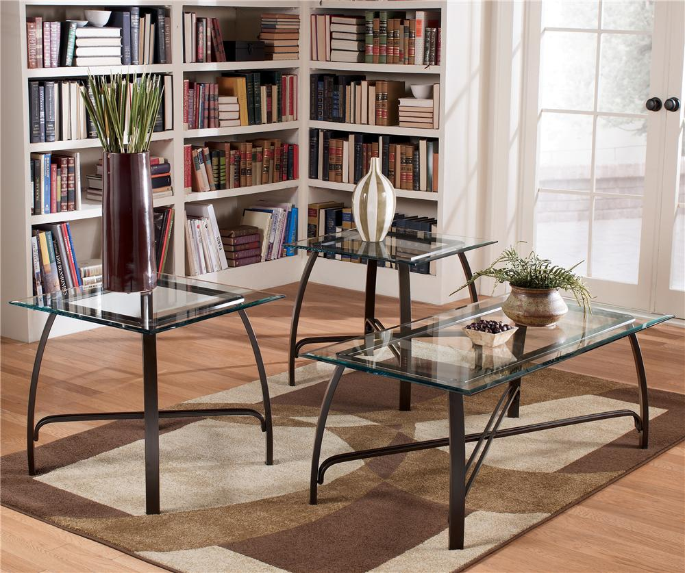 Signature Design by Ashley Liddy 3-in-1 Pack Occasional Tables - Item Number: T174-13