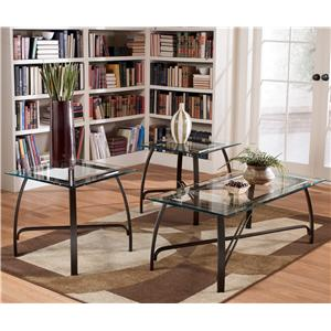 Signature Design by Ashley Liddy 3-in-1 Pack Occasional Tables