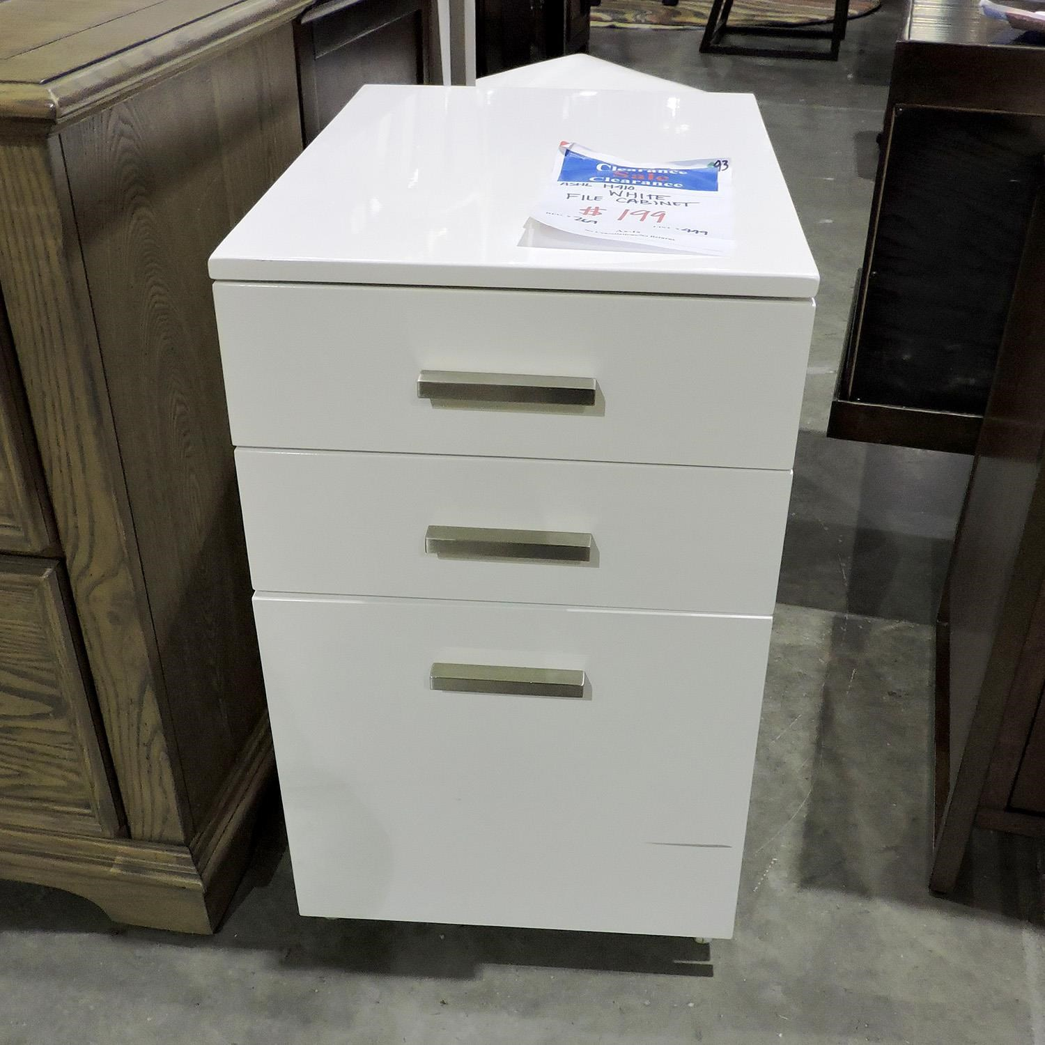Ashley Furniture Clearance White File Cabinet - Item Number: 404758499