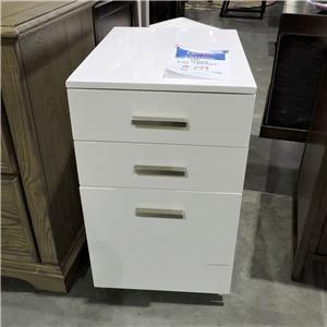 Ashley Furniture         White File Cabinet