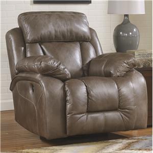Ashley Furniture Loral - Sable Swivel Power Rocker Recliner