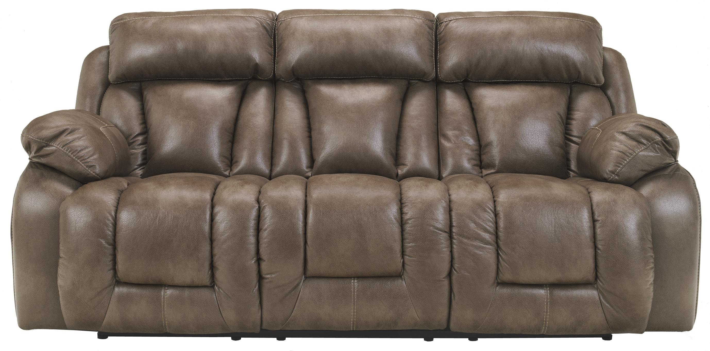 Ashley Furniture Loral - Sable Reclining Power Sofa - Item Number: 4220087