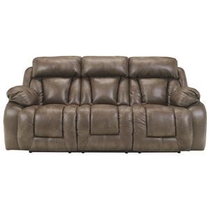 Ashley Furniture Loral - Sable Reclining Power Sofa