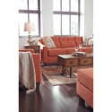 Ashley Furniture Menga Transitional Sofa with Button Tufting