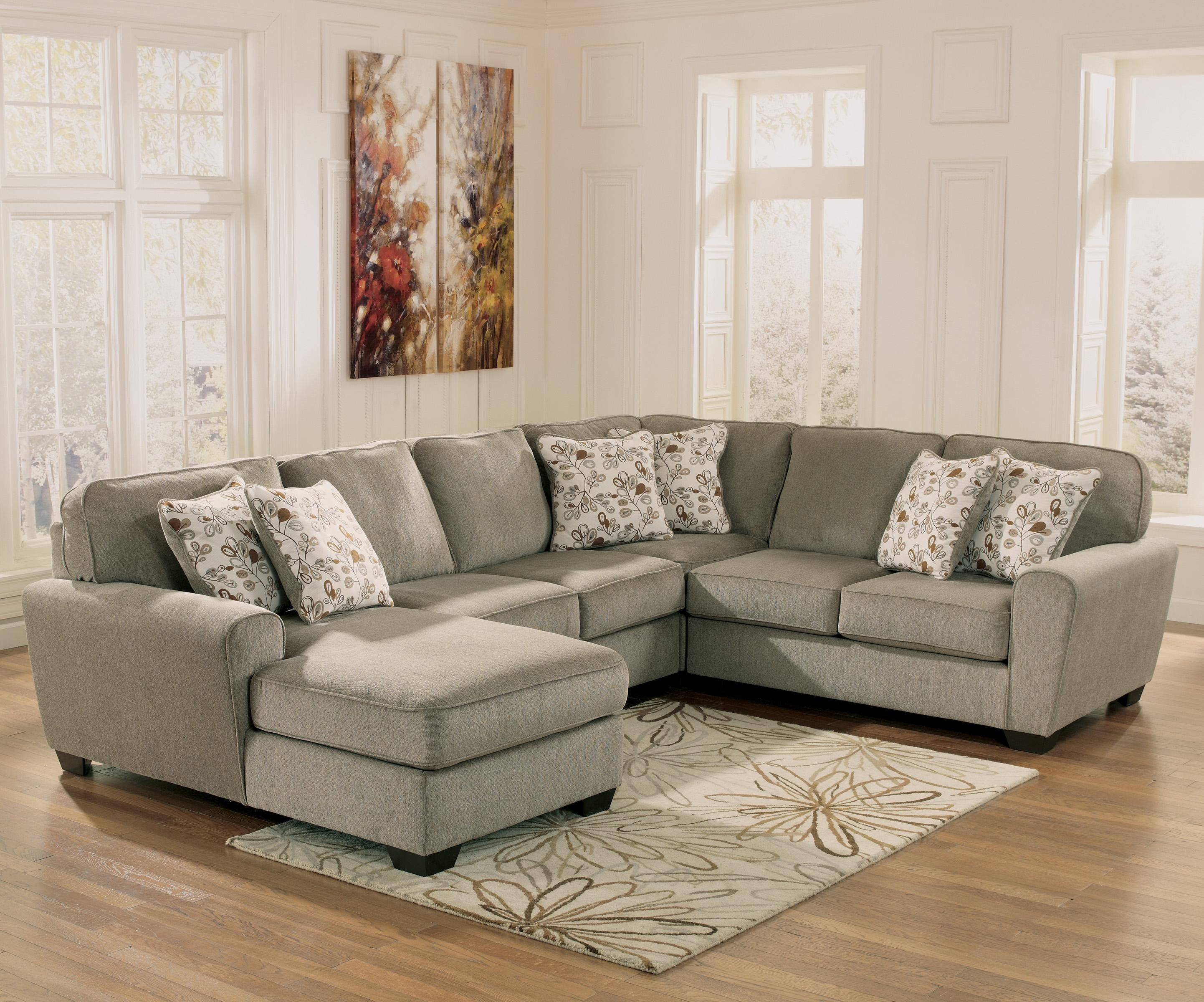 Ashley furniture patola park patina 4 piece small for Ashley chaise sectional
