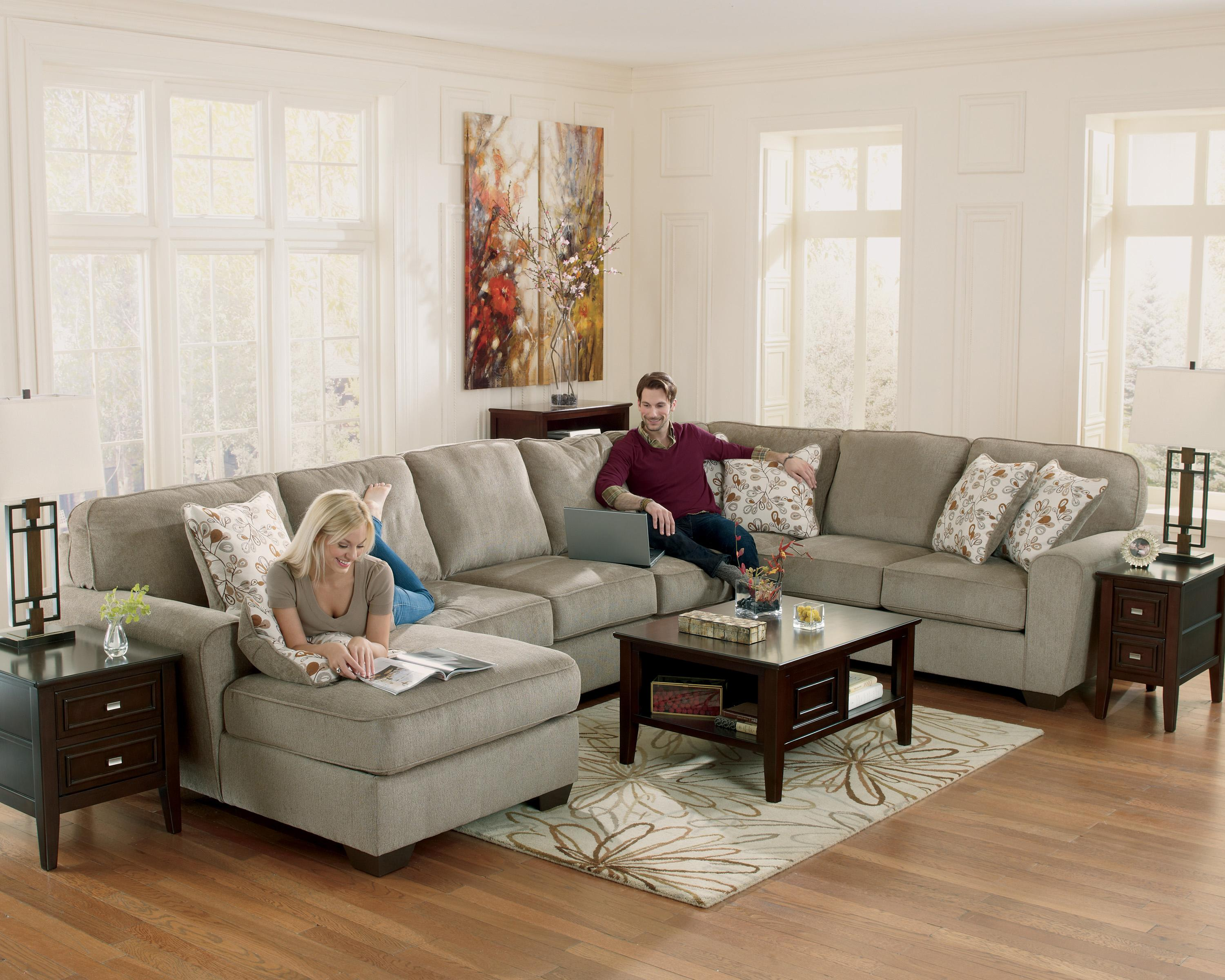 Ashley Furniture Patola Park Patina 4 Piece Sectional With Left Chaise Furniture And