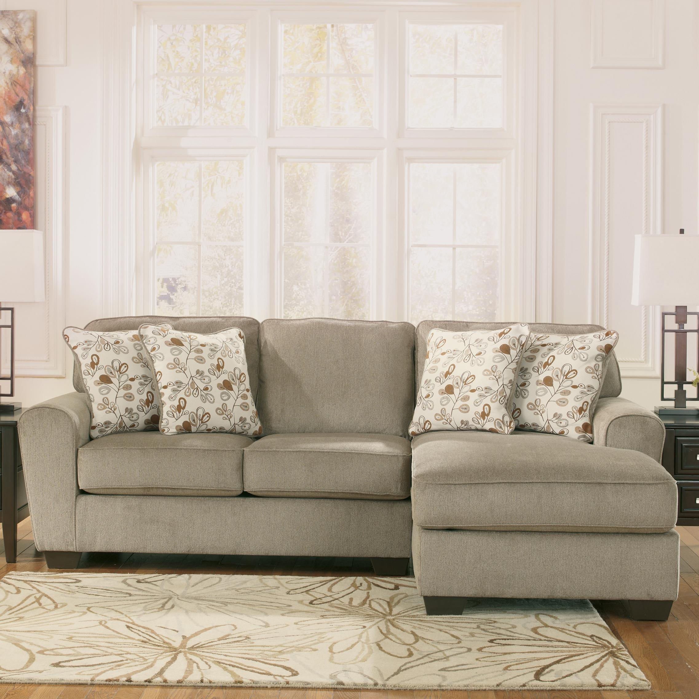 Ashley Furniture Patola Park - Patina 2-Piece Sectional with Right Chaise - Item Number : ashley furniture chaise - Sectionals, Sofas & Couches