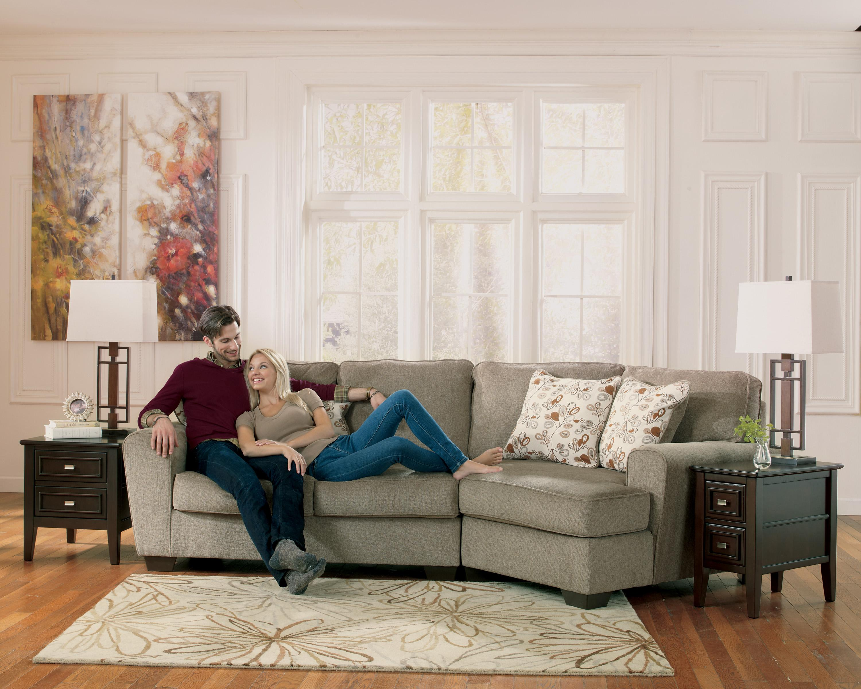 Ashley Furniture Patola Park Patina 2 Piece Sectional With Right Cuddler Del Sol Furniture
