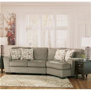 Ashley Furniture Patola Park - Patina 2-Piece Sectional with Right Cuddler