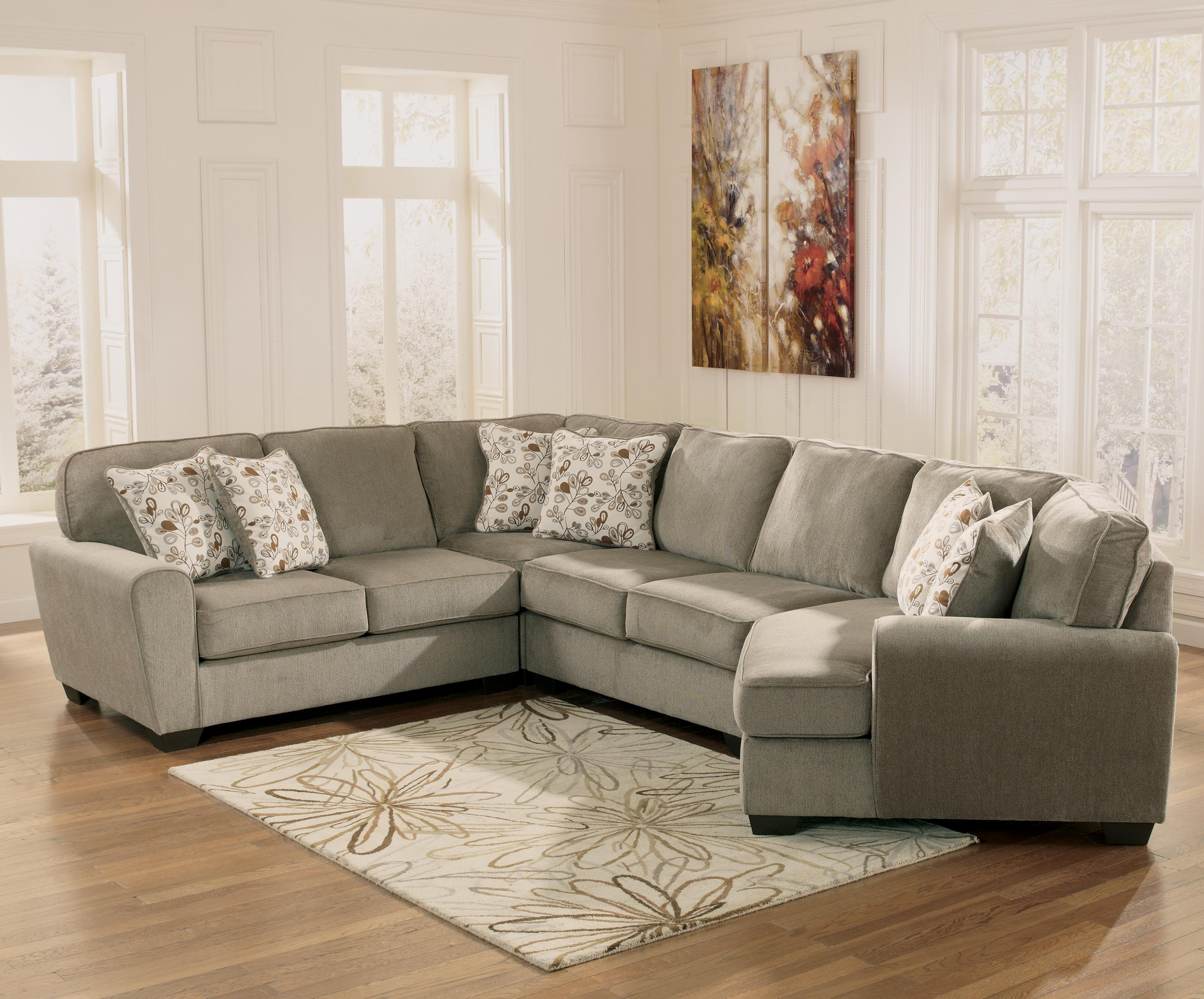 Ashley Furniture Patola Park - Patina 4-Piece Small Sectional with Right Cuddler - Item : ashley furniture sectional - Sectionals, Sofas & Couches