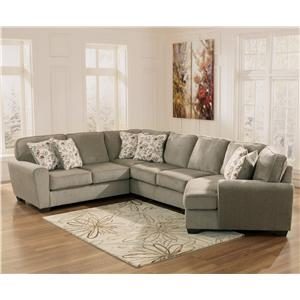 best ashley furniture chaise sofa. Ashley Furniture Patina 4 Piece Small Sectional with Right Cuddler Sofas  Worcester Boston MA Providence RI and New