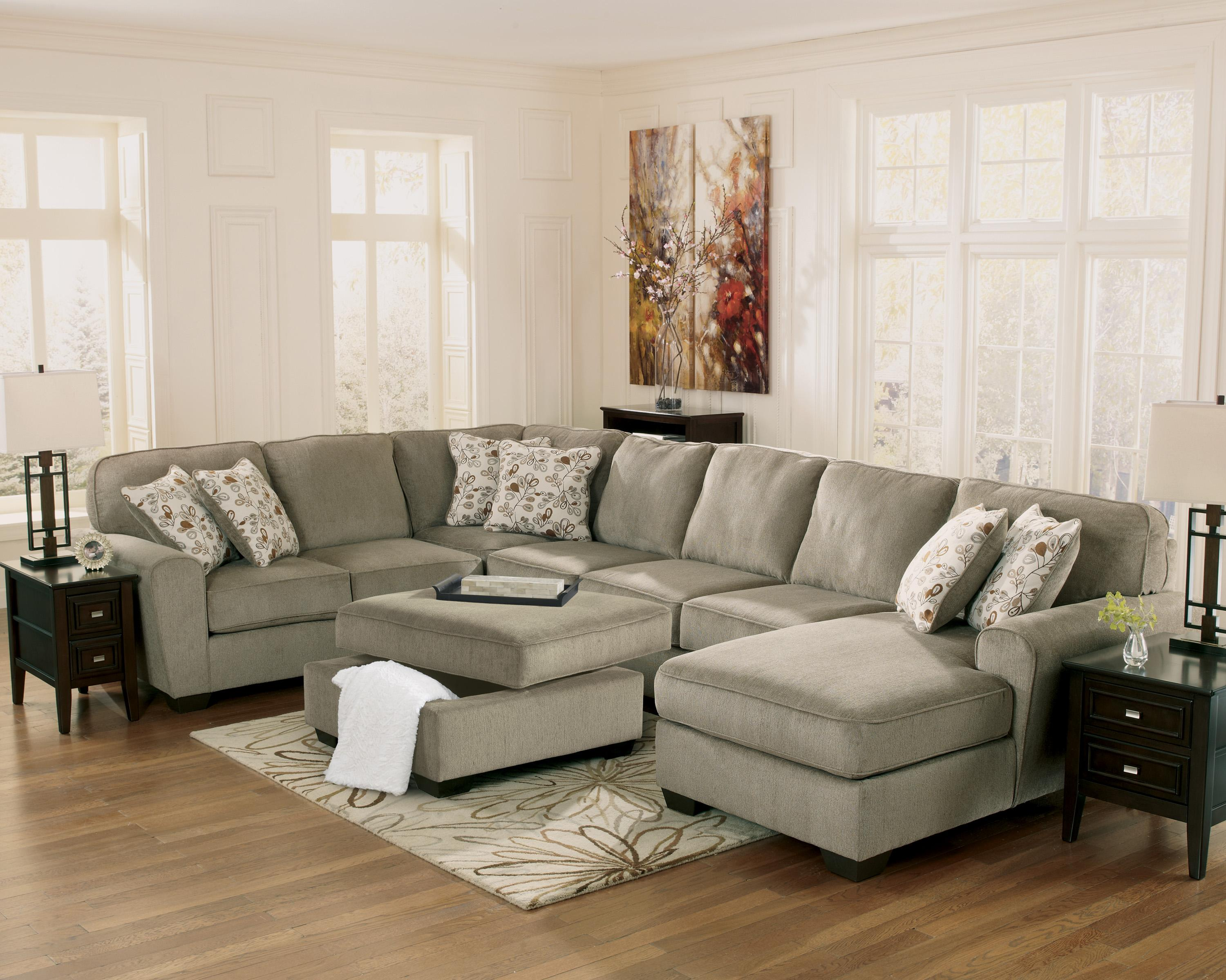 Ashley Furniture Patola Park Patina 4 Piece Sectional With Right Chaise Miskelly Furniture