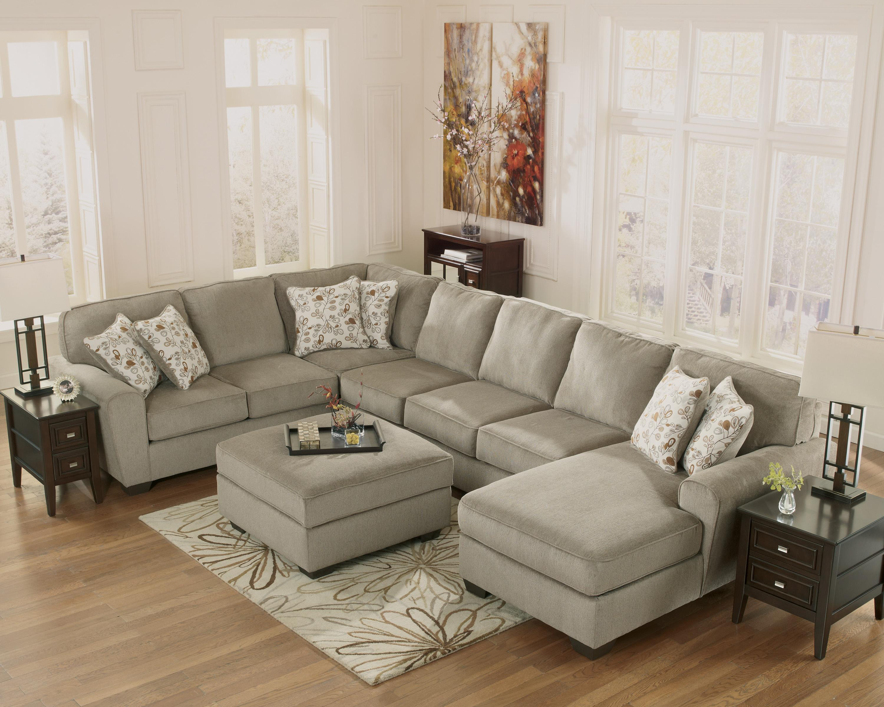 Ashley Furniture Patola Park Patina 4 Piece Sectional With Right Chaise Fashion Furniture