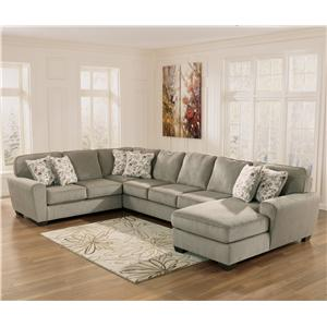 Ashley Furniture Patola Park - Patina 4-Piece Sectional with Right Chaise