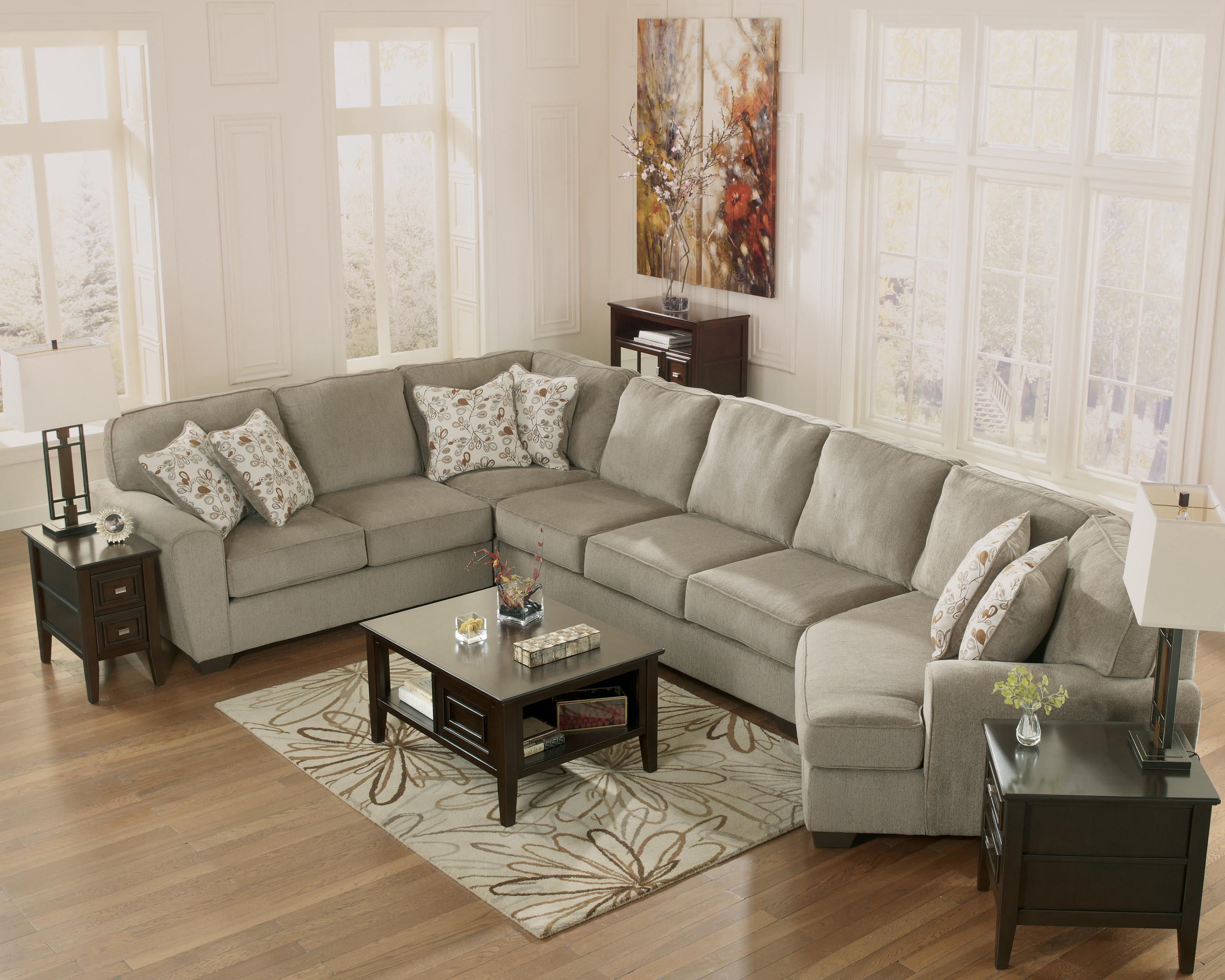 Ashley Furniture Patola Park Patina 4 Piece Sectional With Right Cuddler Olinde 39 S Furniture