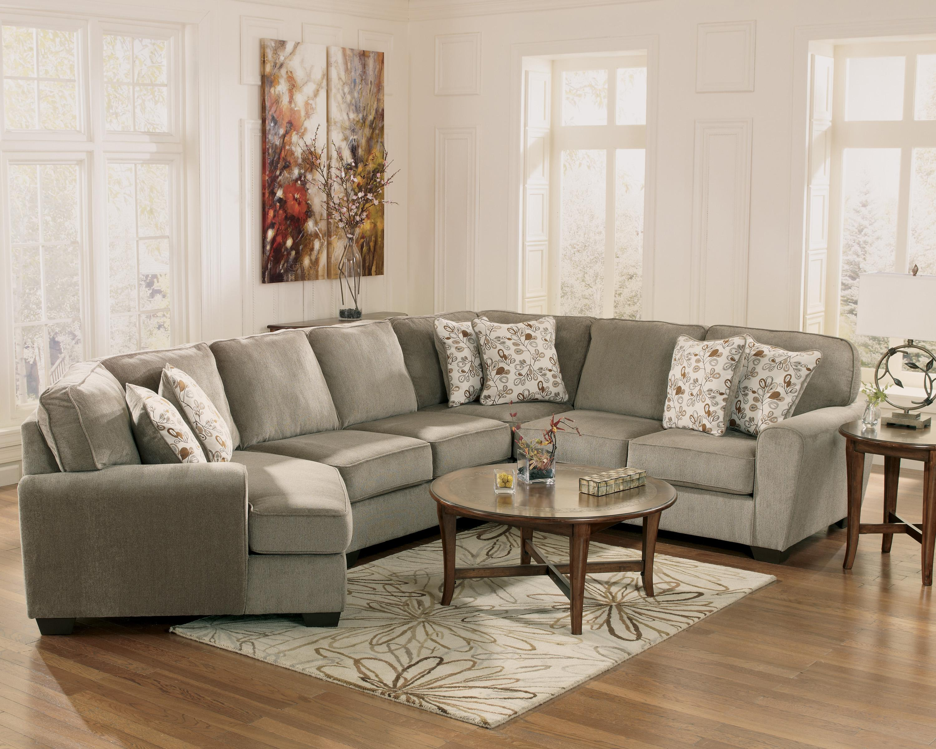 Ashley Furniture Patola Park Patina 4 Piece Small Sectional With Left Cuddler John V Schultz
