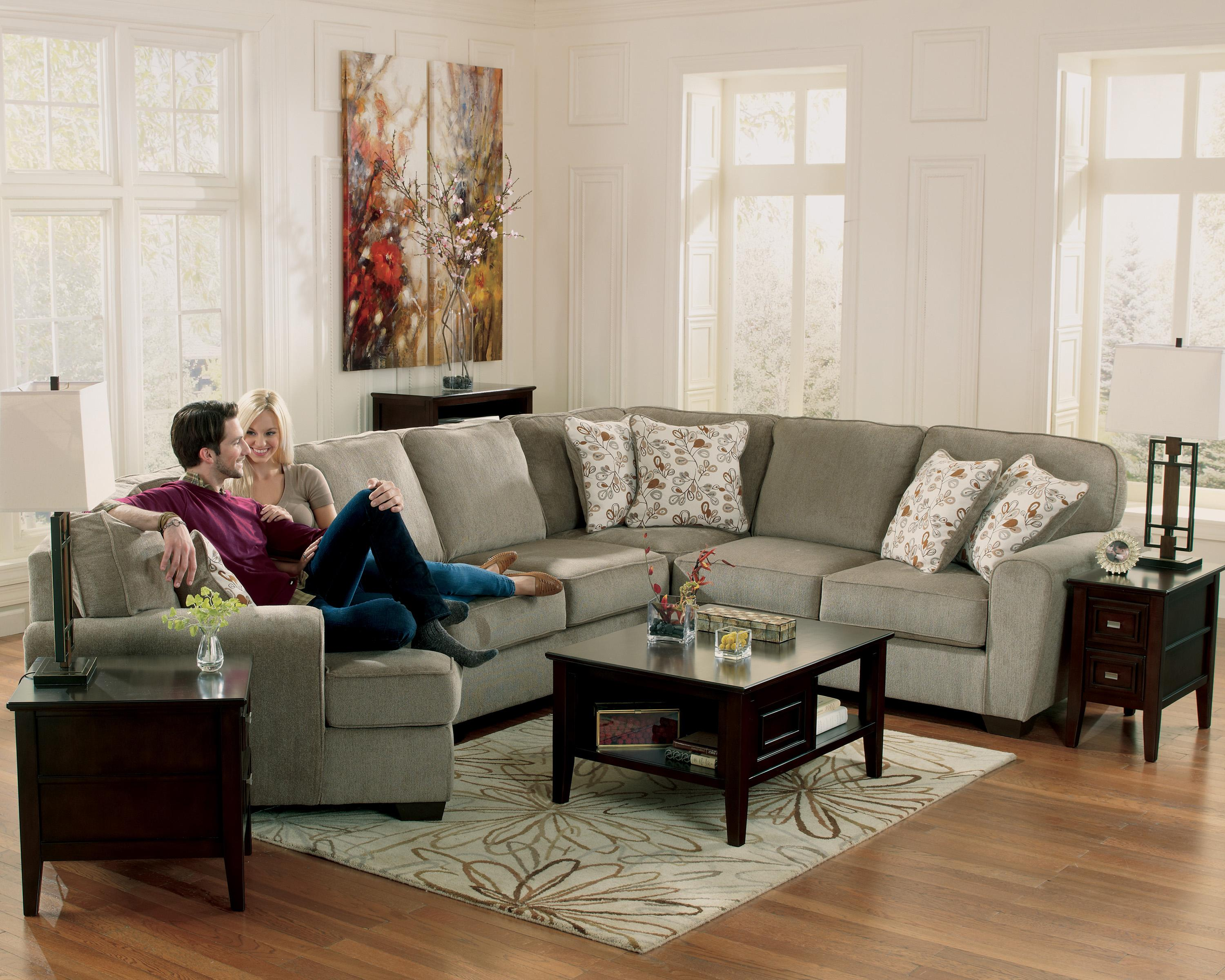 Ashley Furniture Patola Park Patina 4 Piece Small Sectional With Left Cuddler Fashion