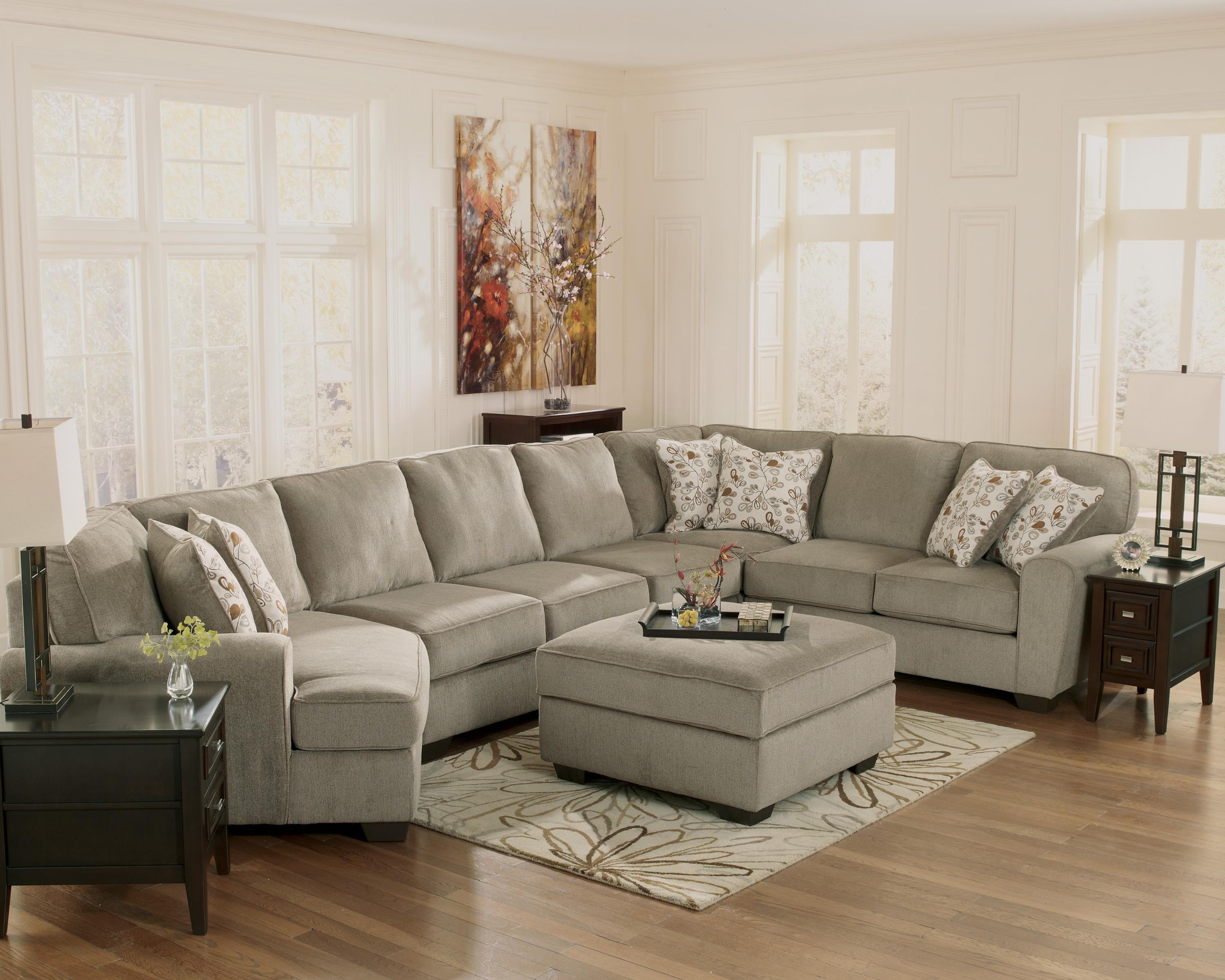 Ashley Furniture Patola Park Patina 4 Piece Sectional With Left Cuddler Zak 39 S Fine Furniture