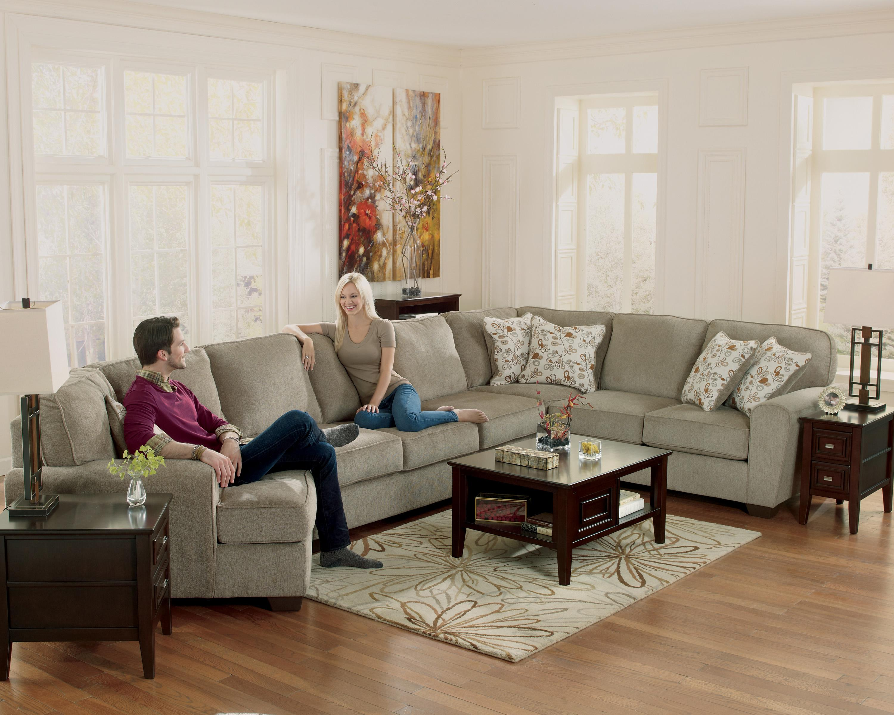 Ashley Furniture Patola Park Patina 4 Piece Sectional With Left Cuddler Furniture And