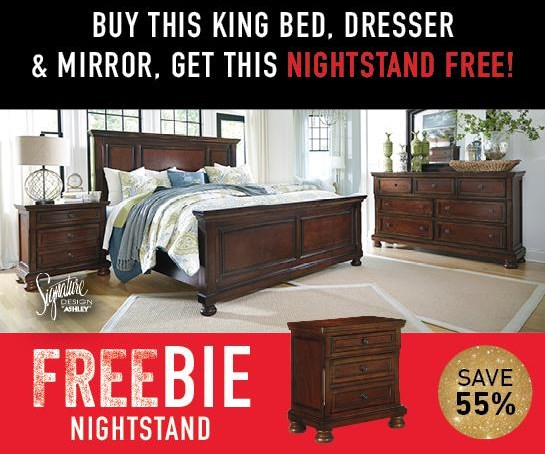 Porter Porter King Bedroom Package with Freebie! at Morris Home