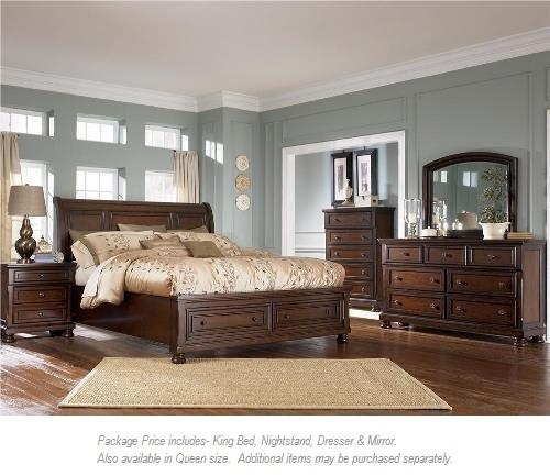 Ashley Furniture Porter 4PC King Bedroom Group - Item Number: 697 KIng Sleigh BR Group