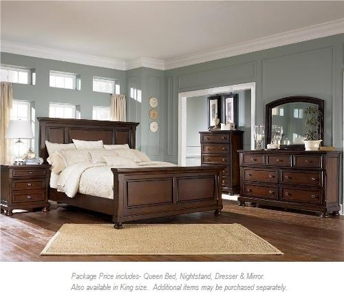 Ashley Furniture Porter 4PC Queen Bedroom - Item Number: 697 Qn Panel Bed BR Group