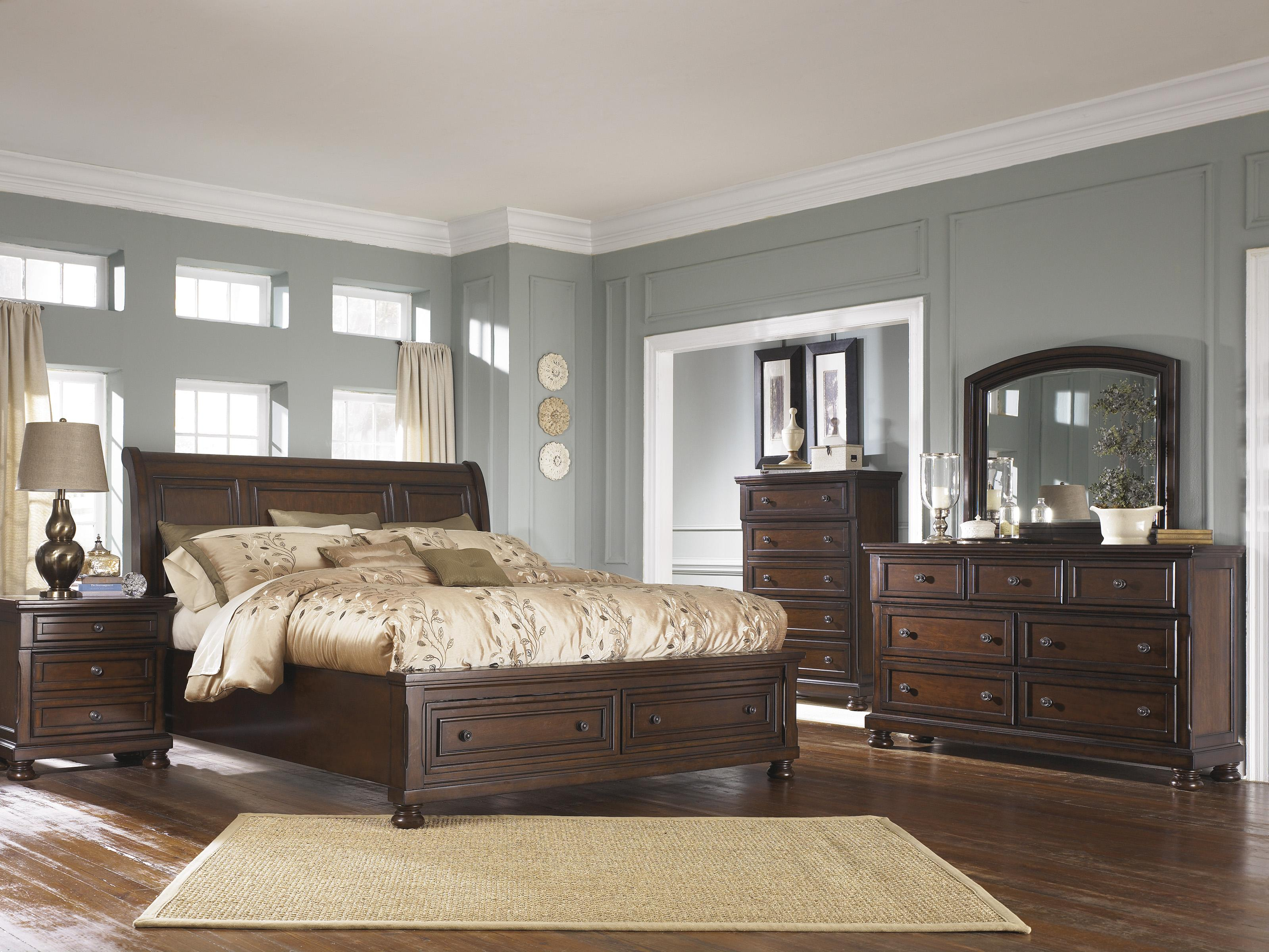 Ashley Furniture Porter King Bedroom Group - Item Number: B697 K Bedroom Group 3