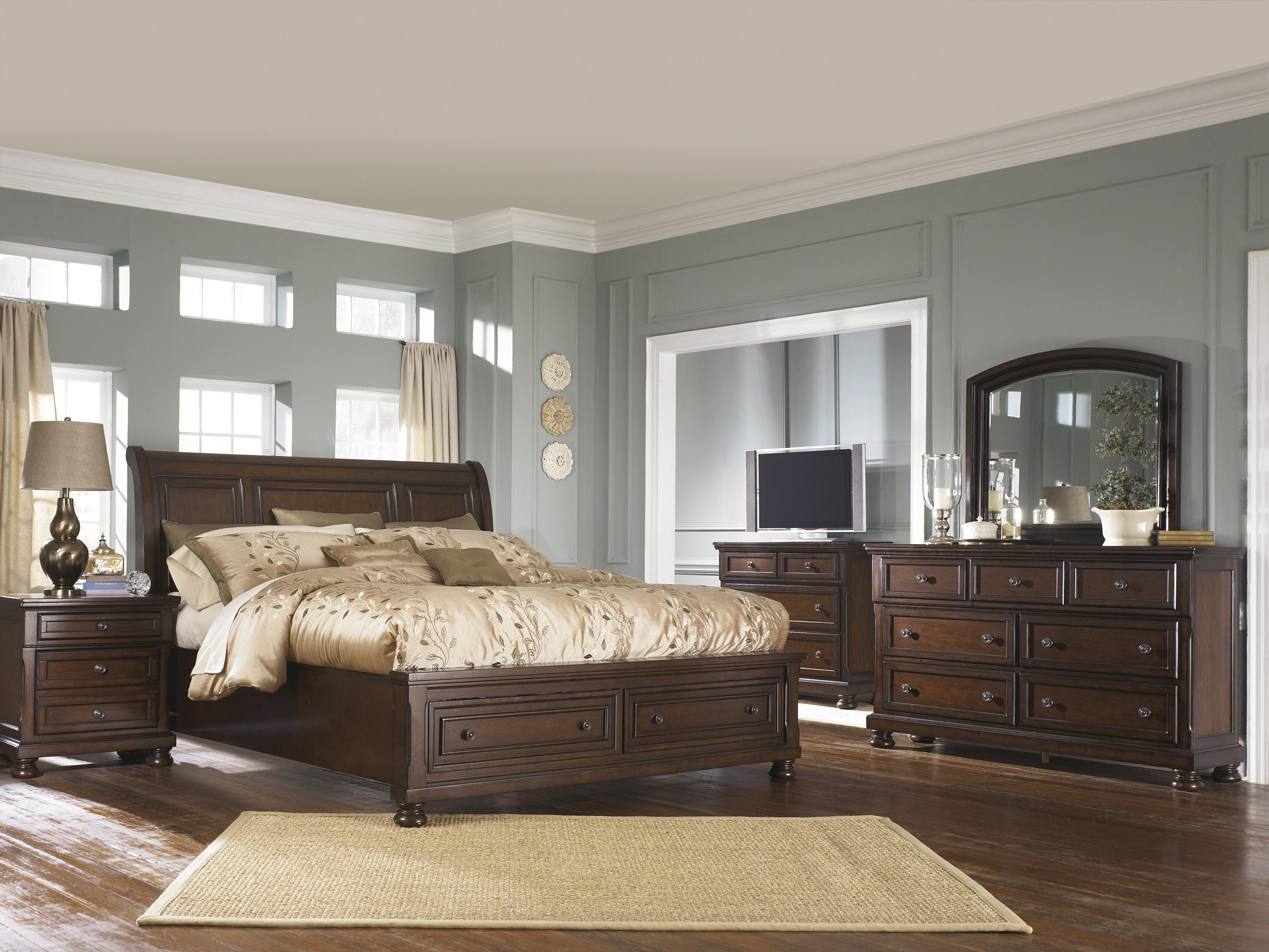 Ashley Furniture Porter House Queen Bedroom Group - Item Number: B697 Q Bedroom Group 4