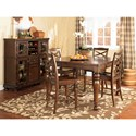 Ashley Furniture Porter Casual Dining Room Group - Item Number: D697 Dining Room Group 3