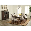 Ashley Furniture Porter Casual Dining Room Group - Item Number: D697 Dining Room Group 8