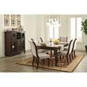 Ashley Furniture Porter Formal Dining Room Group - Item Number: D697 Dining Room Group 8