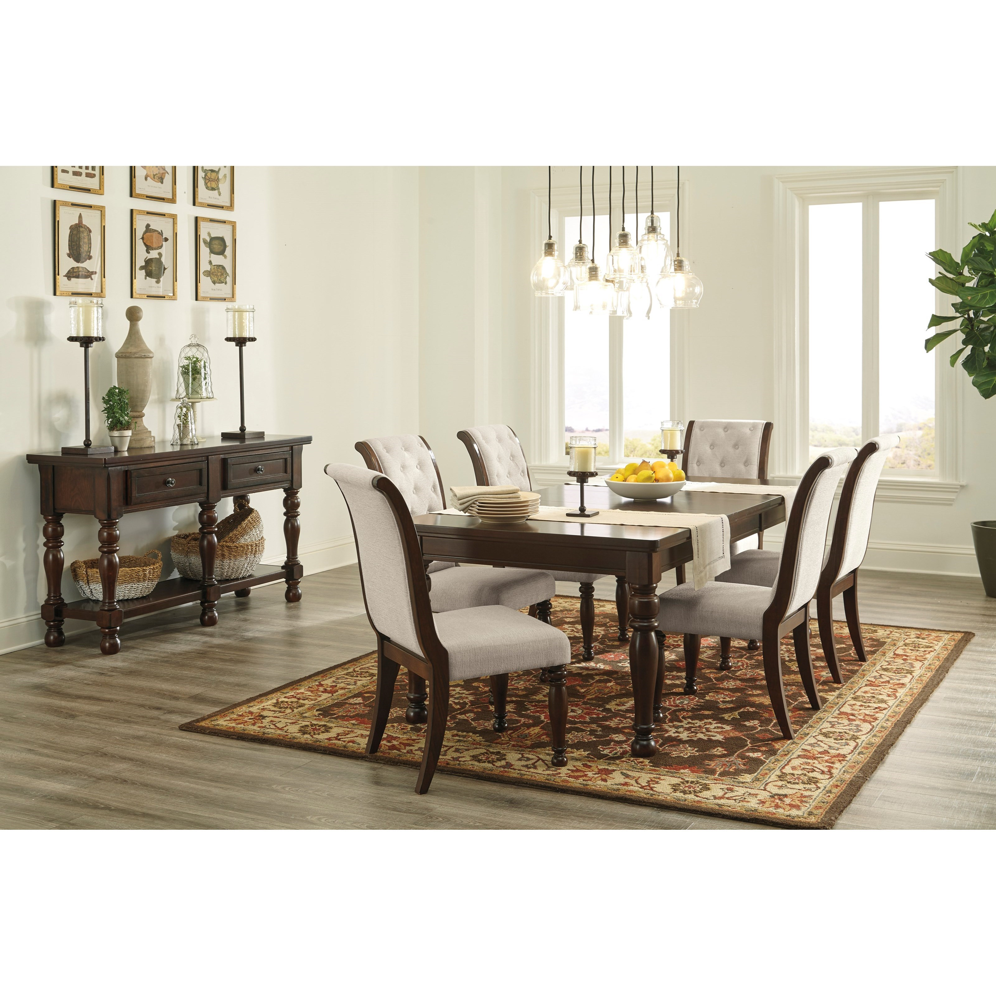 Ashley Furniture Porter D697 35 Rectangular Extension: Ashley Furniture Porter Dining Upholstered Side Chair With