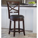 Ashley Furniture Porter Upholstered Swivel Barstool - Item Number: D697-424