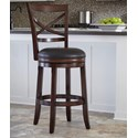 Ashley Furniture Porter Tall Upholstered Swivel Barstool - Item Number: D697-430