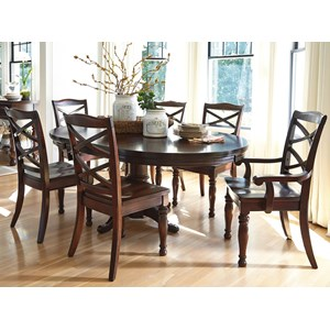 Ashley Furniture Porter House 7-Piece Round Dining Table Set