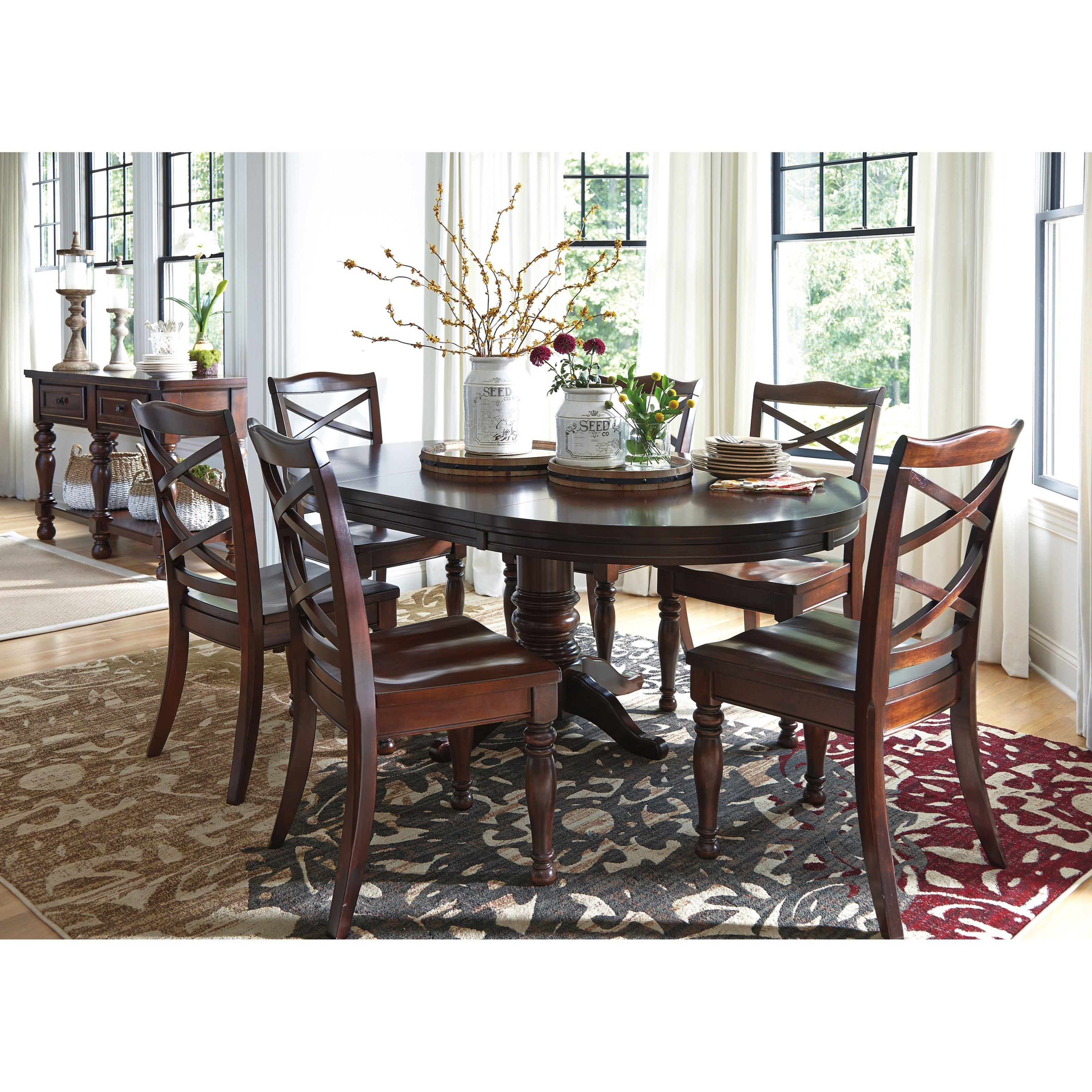 Ashley Furniture Porter 7 Piece Round Dining Table Set  : products2Fashleyfurniture2Fcolor2Fporterd697 50b2B50t2B6x01 b5 from www.olindes.com size 3200 x 3200 jpeg 1750kB