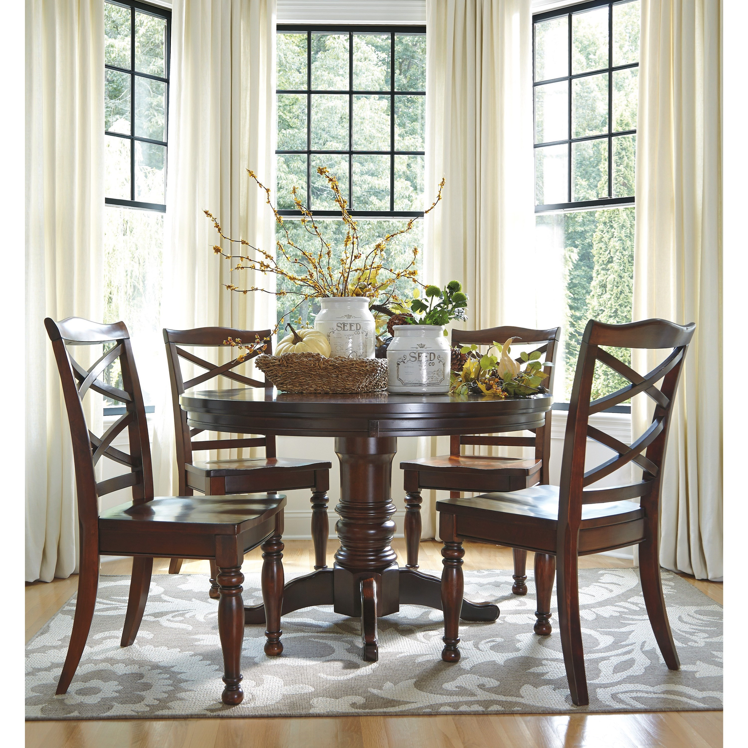 Ashley Dining Table Chairs: Ashley Furniture Porter Round Dining Room Pedestal Table