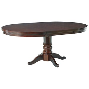 Ashley Furniture Porter House Round Dining Room Pedestal Table
