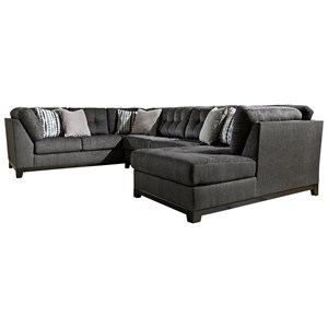 Ashley Furniture Reidshire Sectional Sofa with Right Side Chaise